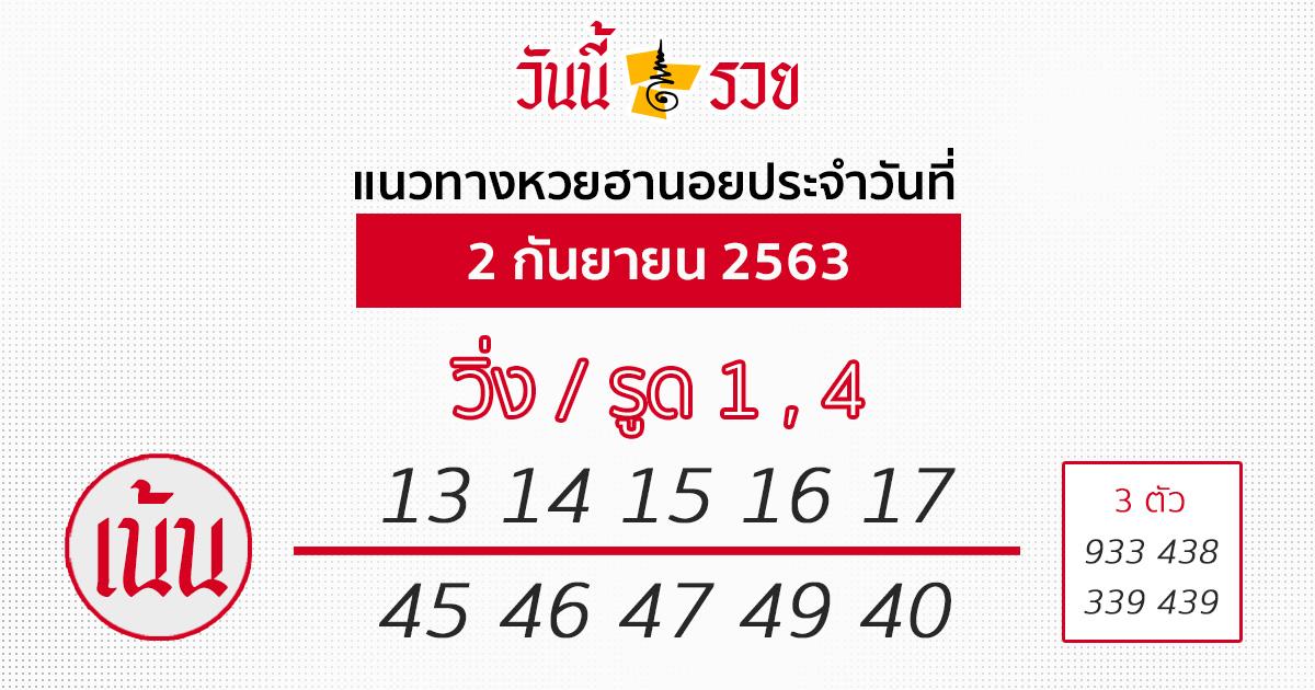หวยฮานอย 2/9/63