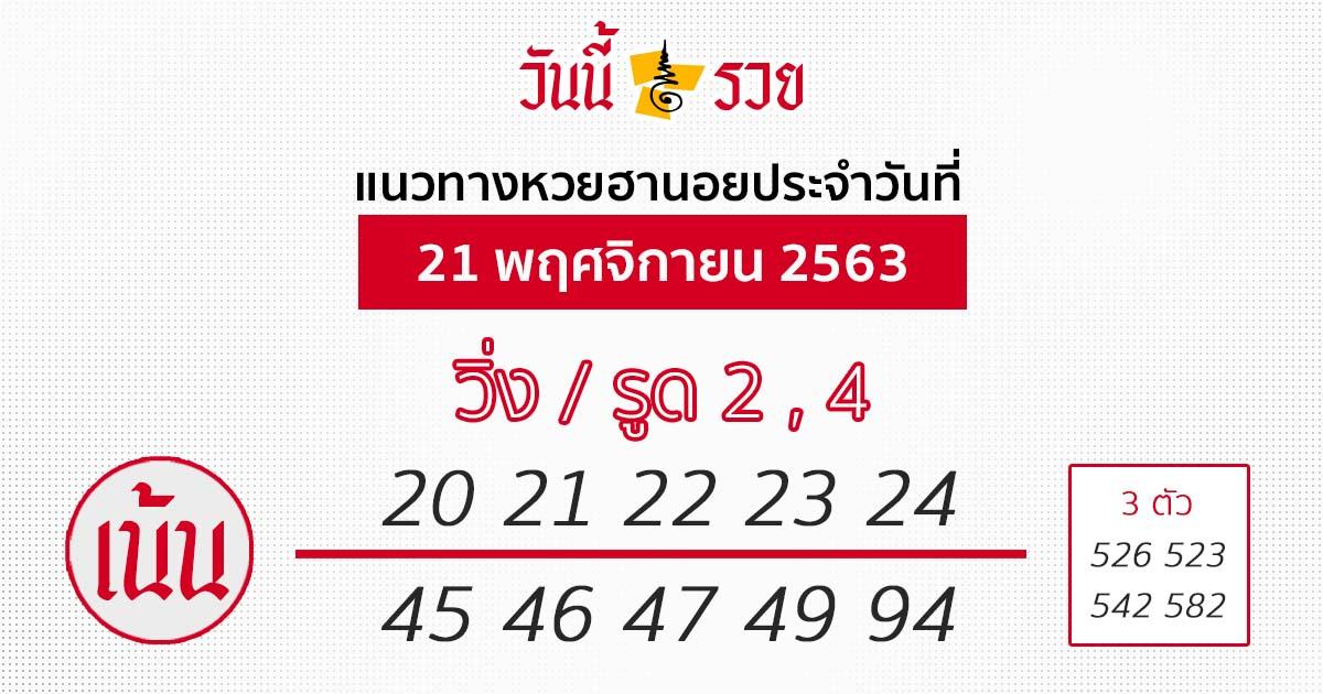 หวยฮานอย 21/11/63